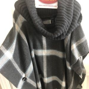 Accessories - Scarf/shawl Gray flannel pattern with turtle neck